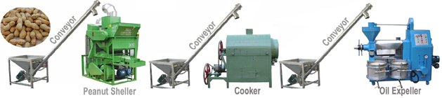 mini peanut oil production plant