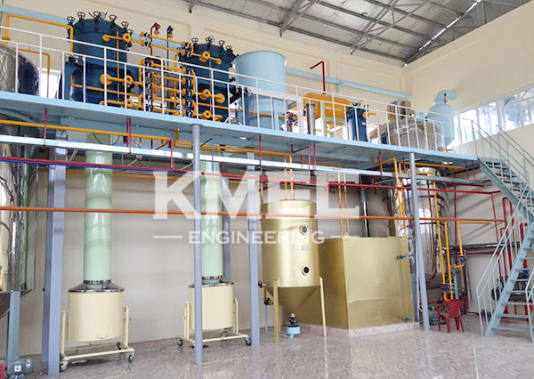 part of cotton seeds oil refining unit