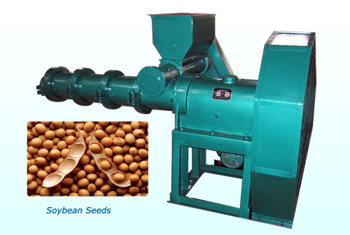 extruding machine for oil-bearing material soybeans