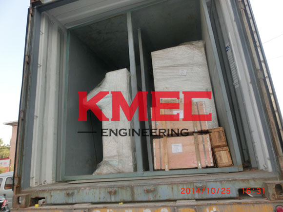 fractionation equipment is putting on the container
