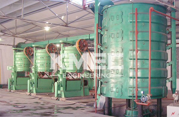 large scale oil milling company workshop view