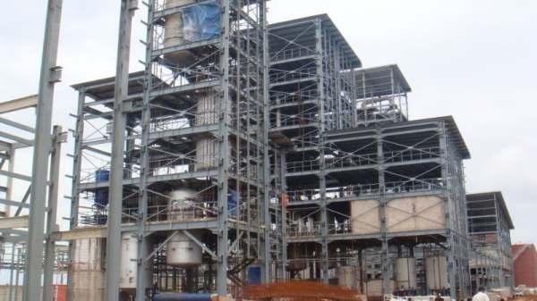 large scale fractionation process plant