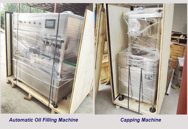 packed   oil filling machines