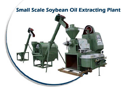 small scale soybean oil extracting plant