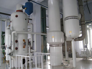 sunflower oil refining process plant