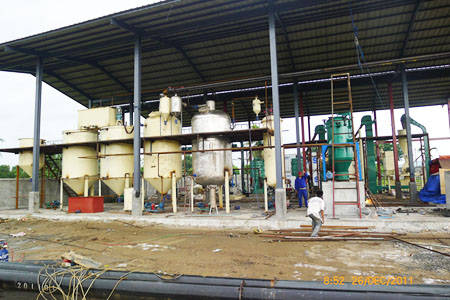 castor bean oil extraction line