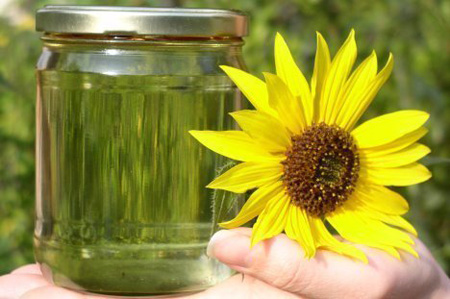 sunflower seed oil production