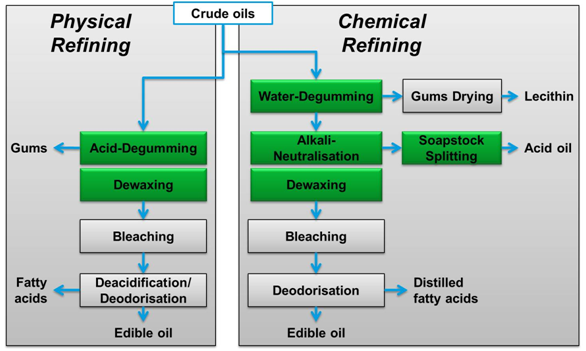 Two Palm Oil Refinery Processes